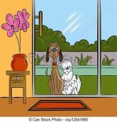 dogs-begging-at-door-eps-vector_csp12541680