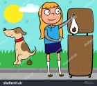 stock-vector-school-girl-throwing-out-dog-s-poo-into-a-waste-basket-vector-illustration-83884351